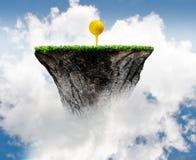 Boule de golf sur la pièce en t Photographie stock