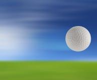 Boule de golf sur le vert Image libre de droits