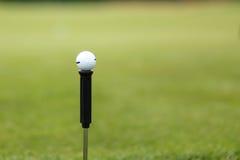 Boule de golf sur un fond d'herbe images stock