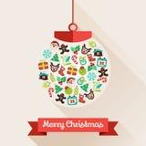 Boule de Joyeux Noël Images libres de droits