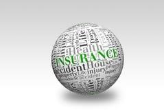 Boule de l'assurance 3d Photo stock