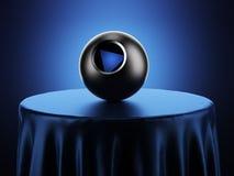 Boule de la magie 8 sur la table illustration de vecteur