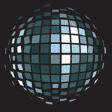 Boule de miroir de club de disco (boule de scintillement) Images libres de droits