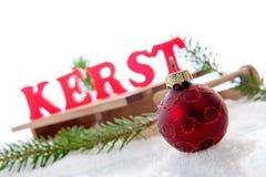Boule de Noël Photographie stock