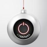 Boule de Noël avec le bouton de puissance Photo stock