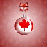 Boule de Noël avec le drapeau du Canada illustration libre de droits