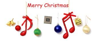 Boule de Noël d'isolement sur le coupe-circuit blanc de fond Photos stock