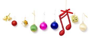 Boule de Noël d'isolement sur le coupe-circuit blanc de fond Image libre de droits
