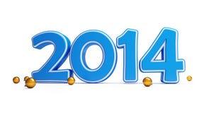 Boule 2014 de Noël de nouvelle année Photos libres de droits