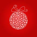 Boule de Noël et de nouvelle année faite à partir des flocons de neige illustration libre de droits