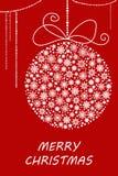 Boule de Noël et de nouvelle année faite à partir des flocons de neige Illustration de vecteur illustration stock