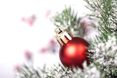 Boule de Noël et toute autre décoration sur l'arbre Images stock