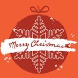 Boule de Noël Style grunge Carte de Noël de vecteur Photos stock