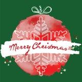 Boule de Noël Style grunge Carte de Noël de vecteur Noël b Photos libres de droits