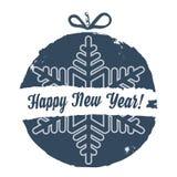 Boule de Noël Style grunge Noël et nouvelle année Ca de salutation Photos libres de droits