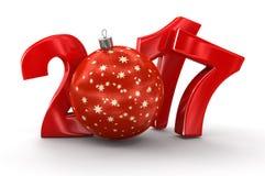 Boule 2017 de Noël Photo stock