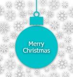 Boule de papier de Noël, carte de voeux peu commune illustration de vecteur