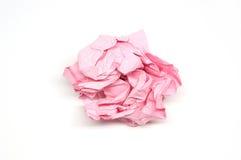 Boule de papier rose chiffonnée Images libres de droits
