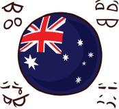 Boule de pays de l'Australie illustration de vecteur