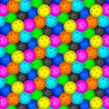 Boule de Pickleball Modèle avec les boules colorées de pickleball illustration stock