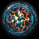 Boule de plasma avec des brins de l'électricité Photo stock