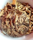 Boule de poissons frite Photographie stock libre de droits
