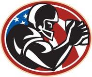 Boule de récepteur large de football américain Photos libres de droits