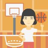 Boule de rotation de joueur de basket illustration de vecteur