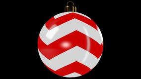 Boule de rotation de Noël banque de vidéos