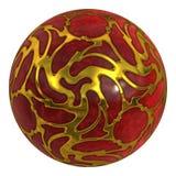 Boule de rouge de pierre précieuse illustration libre de droits