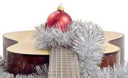 Boule de rouge de guitare Photographie stock libre de droits