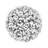 boule de sphère de nombre du chiffre 3d Photographie stock
