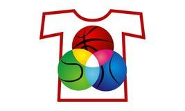 Boule de sport de T-shirt Photos stock