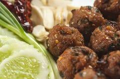 Boule de viande thaïlandaise épicée Photos libres de droits