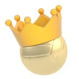 Boule de volleyball dans la couronne d'isolement Images stock