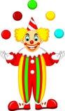 Boule drôle de jeu de position de bande dessinée de clown avec rire et onduler illustration stock