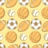 Boule du football, de football américain, de base-ball et de basket-ball Illustration de Vecteur