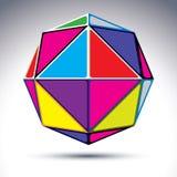 boule du résumé 3d d'isolement sur le fond blanc Sphère colorée W Images stock