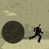 Boule et chaîne illustration libre de droits