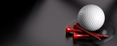 Boule et pièce en t de golf Images libres de droits