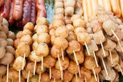 Boule et saucisse de viande thaïlandaises image libre de droits