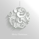 Boule florale abstraite de Noël Photos libres de droits
