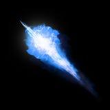 Boule froide bleue de glace d'isolement sur le noir Image libre de droits