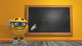 boule jaune mignonne de la bande dessinée 3d Photos stock