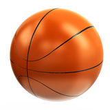 Boule orange de basket-ball, 3d Photographie stock libre de droits