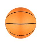 Boule orange de basket-ball d'isolement sur le blanc Image stock