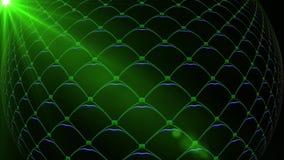 Boule piquée tournante de disco L'animation sans couture de boucle de VJ pour la radiodiffusion de musique de TV, boîtes de nuit, illustration de vecteur