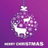 Boule pourpre et rose de Noël. ENV 8 Photographie stock libre de droits