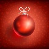 Boule red-01 de Noël Image stock