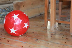 Boule rouge Photos stock